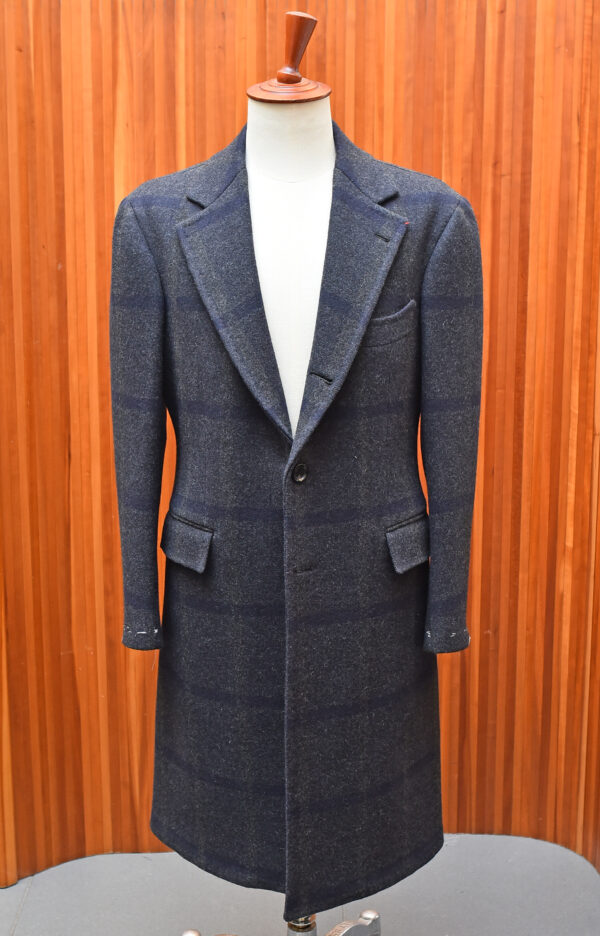 Overcoat single-breasted - Grey and navy